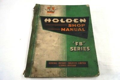 Holden Fb Series Shop Manual 1950's