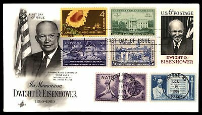 Mayfairstamps US FDC 1969 DWIGHT D EISENHOWER ARTCRAFT WITH COMBINATION UNSEALED