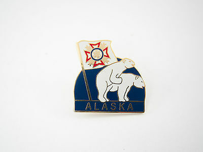 Vintage Alaska Travel Souvenir Pin