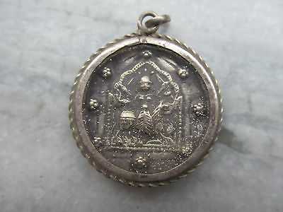 Vintage Tribal South Indian Hindu God Goddess Silver Amulet Pendent Necklace #13