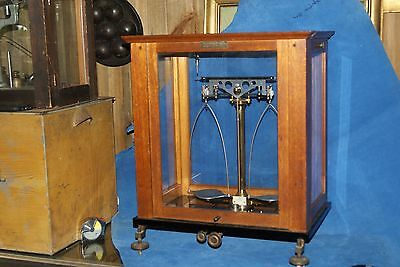 Vintage Brass Scale Wooden Box Empire Laboratory Supply Co. NY Made in Germany