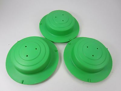 Evenflo Exersaucer Replacement Part Leg Cap cover - Green - LOT OF 3