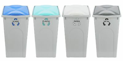HOME 50 Litre Recycling Bins - Set of 4
