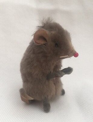 """Vintage Original Toy Fur Little Mouse West Germany Rare 2.25"""" tall"""