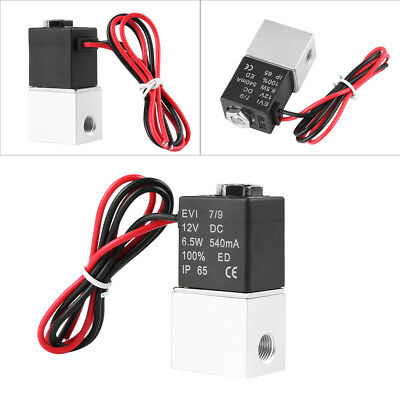 """1/8"""" DC12V 2 Way Normally Closed Pneumatic Aluminum Electric Solenoid Valve SG"""