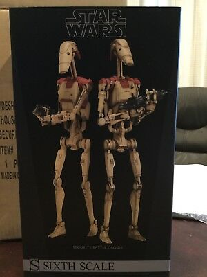 Sideshow Star Wars Security Battle Droids 1/6 Scale MIB 2014