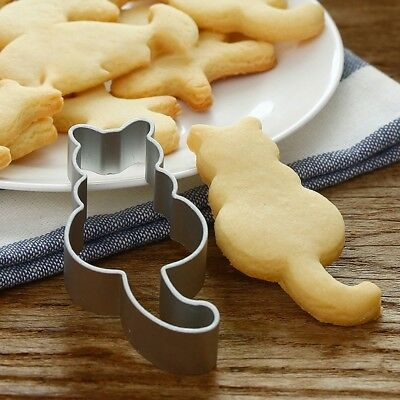 Cute Cat Shaped Aluminium Mold Sugarcraft Cake Cookie Pastry Baking Cutter Mould
