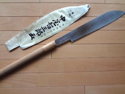 Japanese Nokogiri Nakao Pull Saw with Sign Carpentry Long Blade 360mm Japan