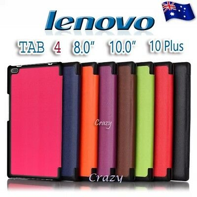 Folio Smart Magnetic Stand Flip Leather Case Cover for Lenovo Tab 4 8 10 10 Plus