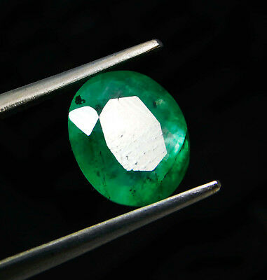 Certified 2.35Ct. Natural Oval shape Colombian Loose Emerald Gemstone. P5440