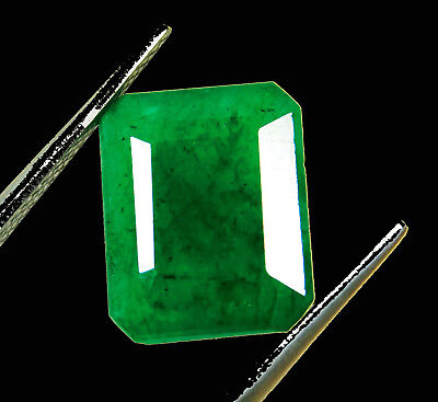 Certified 7.00 Ct. Natural Oval shape Colombian Loose Emerald Gemstone. P5426