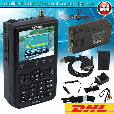 Satlink WS-6906 3.5 Zoll DVB-S FTA Daten Digital Satellite Signal Finder Meter