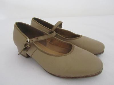 BLOCH Dance TAP SHOES Camel Girls Size 5.5