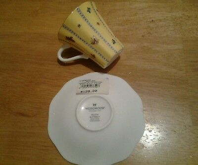 Wedgwood Yellow Butterfly Expresso Cup & Saucer, New
