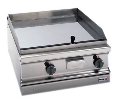 F.E.D Fagor 700 series natural gas chrome 2 zone fry top with thermostatic contr