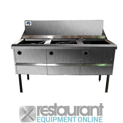 F.E.D Gas Fish and Chips Fryer Four Fryer - WFS-2/18