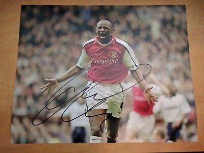 Patrick Vieira Signed 8x10 Photo Arsenal