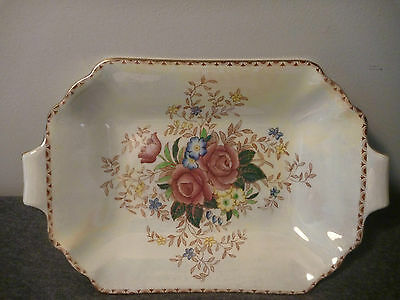 Maling Rosalind Lustre platter with 2 handles
