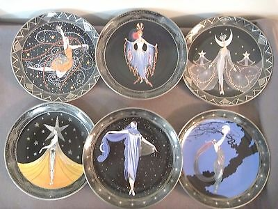 Set of 6 Royal Doulton 'ERTE' Franklin Mint, Limited Edition Collector plates