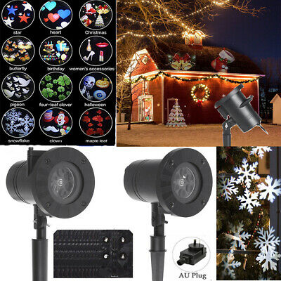 Waterproof Outdoor RG Laser Projector Light Xmas Garden Lawn House Party Lights