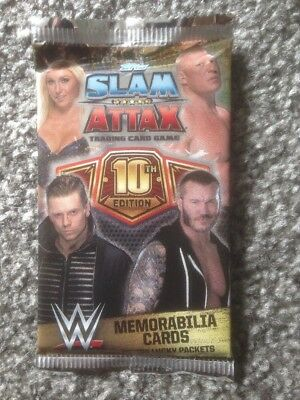 TOPPS WWE Slam Attax 10th Edition Trading Cards X 5