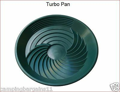 "Turbo Pan Green 16"" Plastic Gold Pan Sluice Panning Prospecting Gem Turbopan"