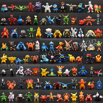 24PCS  Mixed Pokemon Pikachu Monster Mini Random Pearl 2-3cm Action Figures toys