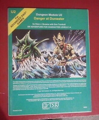 Advanced Dungeons and Dragons (AD&D) Module U2 Danger at Dunwater