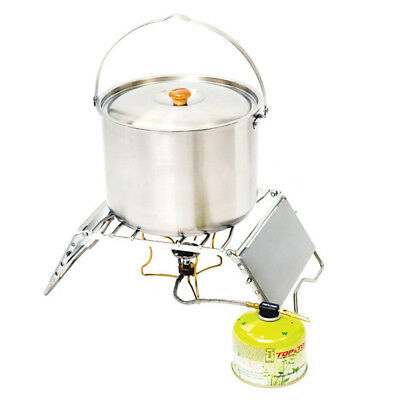 Folding Outdoor Camping Hiking Picnic Cooking Pot Campfire Grill Adjustable Pro