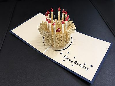Birthday card handmade 3d pop up & origami