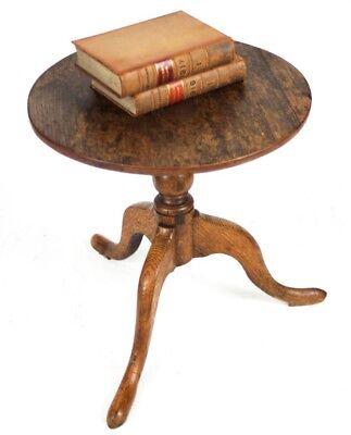 Antique 18C Georgian Oak Pedestal Table - FREE Shipping [PL3952]