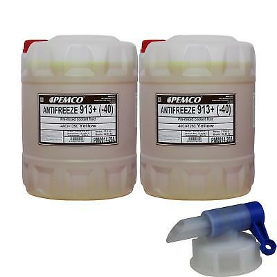 40L Pemco Antifreeze Anti-Freeze 913+ Yellow pm0914-20 incl. Drain Cock