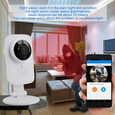 720P Wireless Wifi Security Camera Indoor Baby Monitor Video IR Night Vision AB
