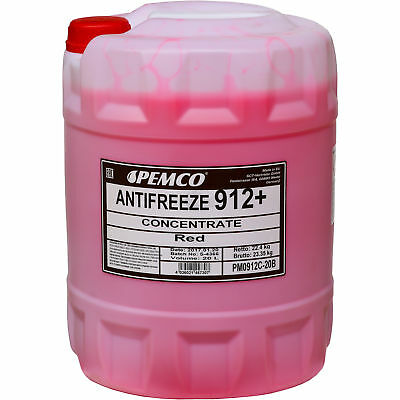 20 Litre Pemco Antifreeze Anti-Freeze 912+ Concentrate kühlflüssigkeiten Red