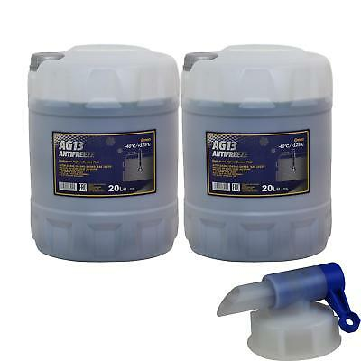 2X 20 L Mannol Antifreeze HIGHTEC ANTIFREEZE AG13 Green incl. Drain Cock