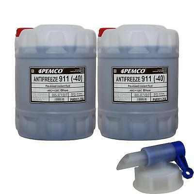 2X 20 L Pemco Anti-Freeze 911 Antifreeze Blue Ready Mix Disc + DRAIN COCK