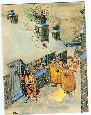 Giles – charity Christmas Card for   life boats           3  for  sale