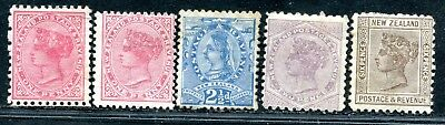 New Zealand 6 Queen Victoria Values To 6 Pence Unsorted Mh/mhr 1 Mng