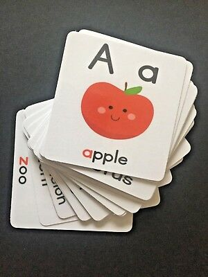 Alphabet Flash Card Laminated - 26 Cards - EYFS/Early Learning/Ofsted Approved