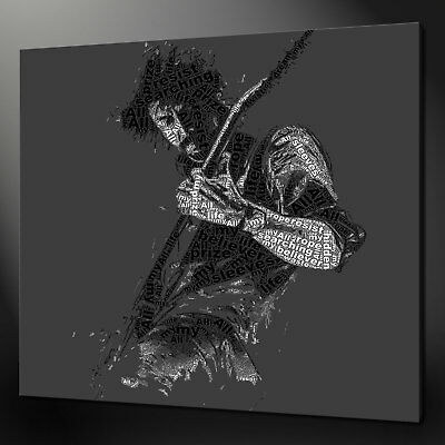 Dave Grohl Foo Fighters Canvas Print Picture Typography Design Art Handmade