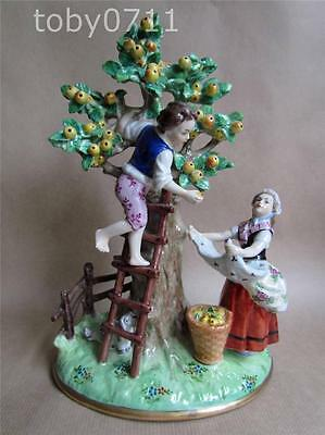 Sitzendorf Porcelain Figural Group - The Fruit Pickers