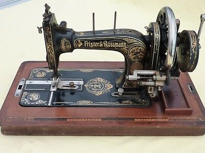 Antique Frister & Rossman sewing machine - circa. 1910 - with box and shuttle.