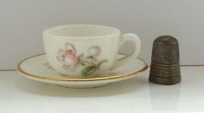 Coalport miniature cup and saucer Blossom Time
