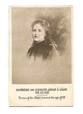 Postcards Teresa of the child of Jesus at the age 13