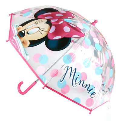Paraguas manual burbuja transparente Minnie Disney