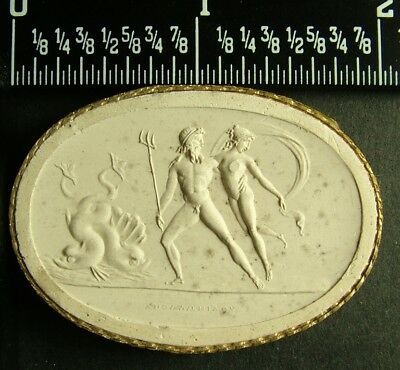 Rare Antique Grand Tour 1840 Plaster Intaglio Cameo 84 By Poniatowski / Tyrrell