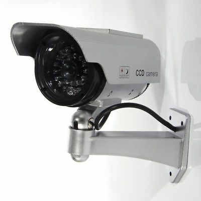 Solar Powered Waterproof Flash LED Fake Dummy Camera Security CCTV