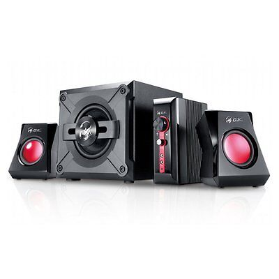 Genius Sw-G2.1 1250 Black & Red 38W 2.1 Pc Gaming Speakers System & Subwoofer