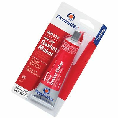 PERMATEX 81160 High-Temp Red RTV Silicone Gasket Maker 81160 85g -54°C to 343°C