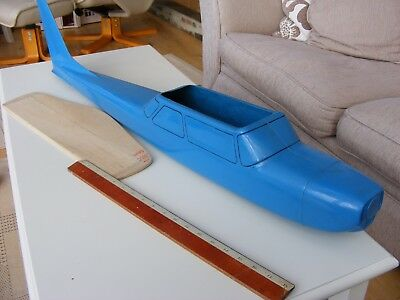 Model Aircraft Radio Control trainer glass fibre fuselage unused.
